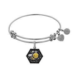 Brass with White Finish Queen Bee Enamel Charm for Angelica Bangle
