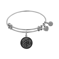 Brass with White Finish Diva Charm for Angelica Bangle