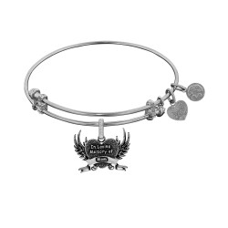 Brass with White Finish In Loving Memory of Mom Charm for Angelica Bangle