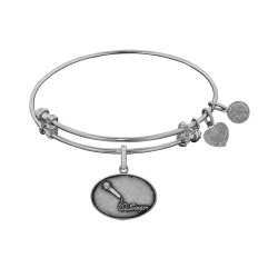 Brass with White Finish Singer Charm for Angelica Bangle