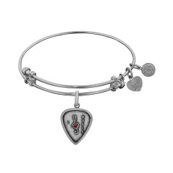 Brass with White Finish I Love Music Enamel Charm for Angelica Bangle