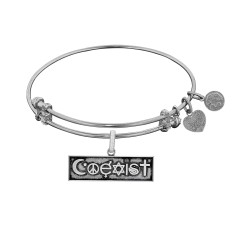 Brass with White Finish Coexist Charm for Angelica Bangle