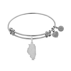 Brass with White Finish Illinois Charm for Angelica Bangle