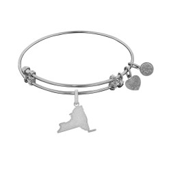 Brass with White Finish New York Charm for Angelica Bangle