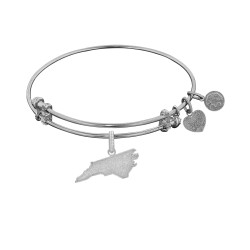 Brass with White Finish North Carolina Charm for Angelica Bangle