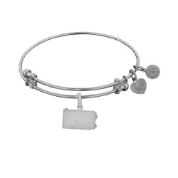 Brass with White Finish Pennsylvania Charm for Angelica Bangle