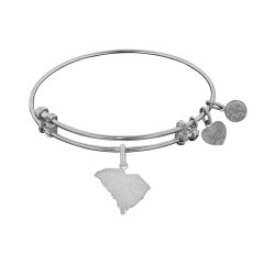 Brass with White Finish South Carolina Charm for Angelica Bangle
