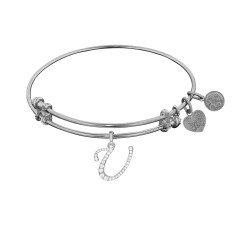 Brass with White Finish  Initial U Charm for Angelica Bangle