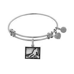 Brass with White Finish Skier Angelica Bangle