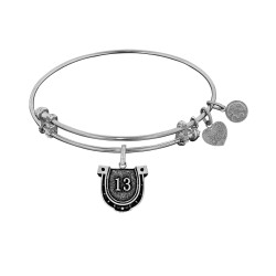 Brass with White Finish Lucky 13 Angelica Bangle