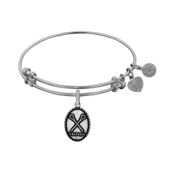 Brass with White Finish Lacrosse Angelica Bangle