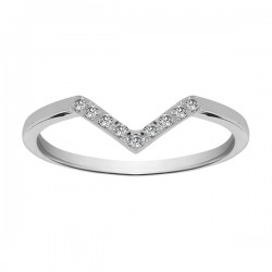 V Shaped Channel Tiara Band