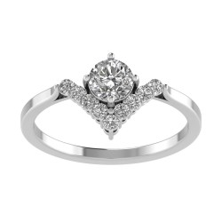 Solar V Shaped Wedding Set