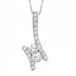 Twogether Diamond Pendant 1Ctw