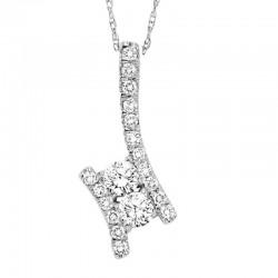 Twogether Diamond Pendant 1Ctw