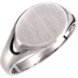 5545 9x11mm Solid Oval Signet Ring