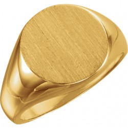 Gents Signet Ring W/brush Finished Top -90003166