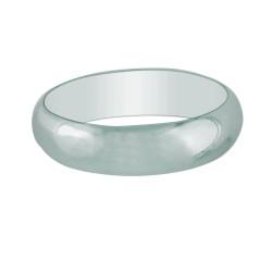 Silver With Rhodium Finish 6.0Mm Shiny Wedding Band & Thumb Size 7 Ring