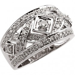 Openwork Diamond Band