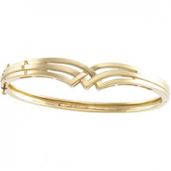 14kt Yellow Hinged Bangle Bracelet