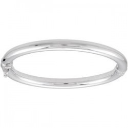 Sterling Silver 6mm Hinged Bangle Bracelet