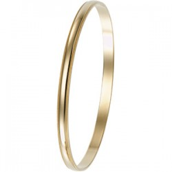 14kt Yellow 4mm Milgrain Edge Bangle Bracelet