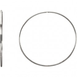 Sterling Silver 65mm Endless Hoop Tube Earrings