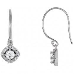 14kt White 3/8 CTW Diamond Earrings