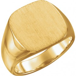 14kt Yellow 10mm Men-s Solid Signet Ring
