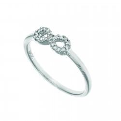 14K White Gold 0.1Ct. Diamond Ring