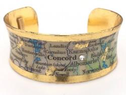 """1"""" Corset Concord NC Map Cuff"""