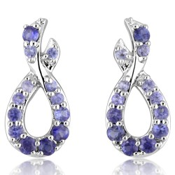 Entwined Sapphire Earrings