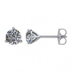 1/2 ctw Martini Diamond Solitaire Earrings