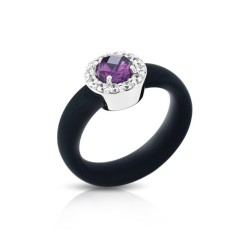 Diana Black/Amethyst Ring