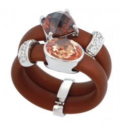Venezia Brown/Champagne Ring