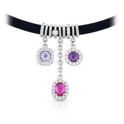 Diana Black/Pink Necklace