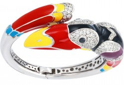 Toucan Black Bangle