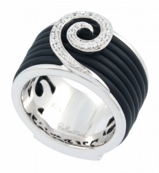 Swirl Black Ring