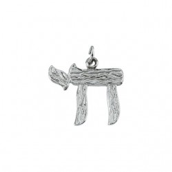 Sterling Silver 20x23.25 Chai Pendant