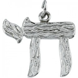 Sterling Silver 17x20.25 Chai Pendant