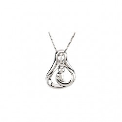 Embraced by the Heart� Mother Necklace
