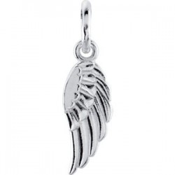 14K White Angel Wing Charm with Jump Ring