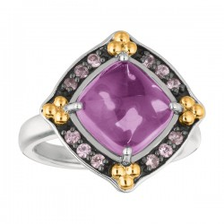 Phillip Gavriel 18K Yellow Gold & Sterling Silver Amethystpink Sapphire Rock Candy Ring. Size-06. Phillip Gavriel Next Generation Of Rock Candy Collection.