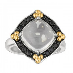 Phillip Gavriel 18K Yellow Gold & Sterling Silver Rock Crystalblack Sapphire Rock Candy Ring. Size-06. Phillip Gavriel Next Generation Of Rock Candy Collect Ion.