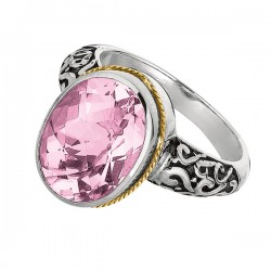 Phillip Gavriel 18K Yellow Gold & Sterling Silver Oval Pink Amethyst Rock Candy Ring. Size-06. Phillip Gavriel Next Generation Of Rock Candy Collection.
