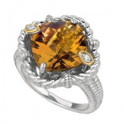 Phillip Gavriel 0.02Ct Diamondwhiskey 18K Yellow Gold & Sterling Silver Rock C Andy Ring. Size-06. Phillip Gavriel Next Generation Of Rock Candy Collection.