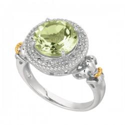 Phillip Gavriel 0.08Ct Diamondgreen Amethyst 18K Yellow Gold & Sterling Silver Rock Candy Ring. Size-06. Phillip Gavriel Next Generation Of Rock Candy Colle Ction.