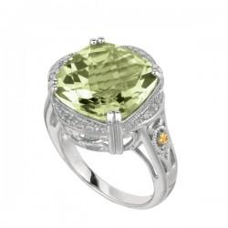 Phillip Gavriel0.10Ct. Diamondgreen Amethyst 18K Yellow Gold & Sterling Silver Rock Candy Ring. Size-06. Phillip Gavriel Next Generation Of Rock Candy Colle Ction.