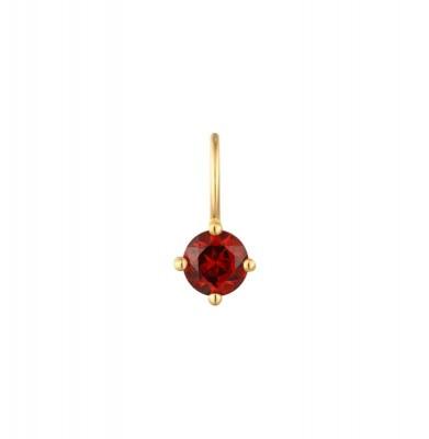 January Garnet Necklace Charm