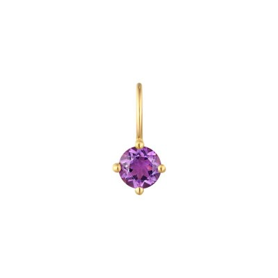 February Amethyst Necklace Charm